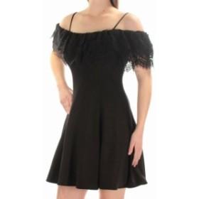 Betsy & Adam ベッツィアンドアダム ファッション ドレス Betsy & Adam Womens Dress Black Size 2 Lace Cold-Shoulder A-Line