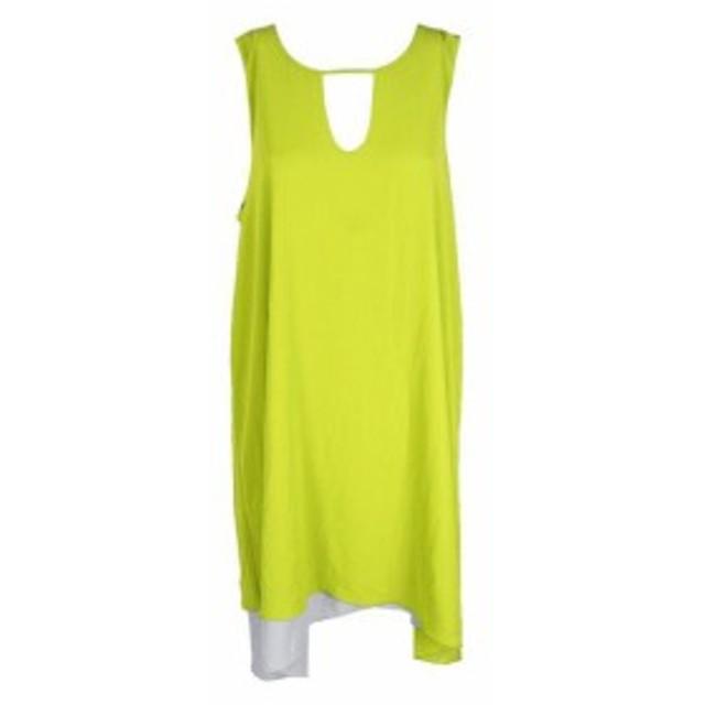 ファッション ドレス Bar III Lemon Sleeveless Asymmetric Contrast Pencil