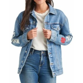 lucky ラッキー ファッション 衣類 Lucky Brand Womens jacket Blue Size Medium M Denim Patch Trucker