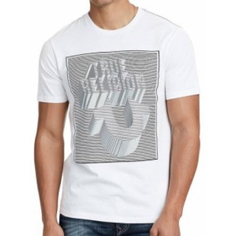 Religion  ファッション トップス True Religion Mens Perspective Crew Neck Tee T-Shirt in White (L XL 3XL)