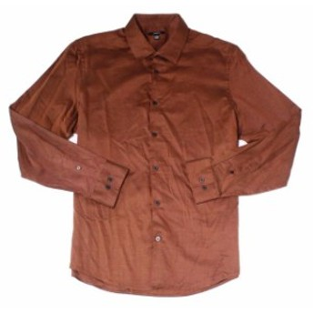 Alfani  ファッション アウター Alfani NEW Cognac Brown Mens Size Large L Long Sleeve Button Down Shirt