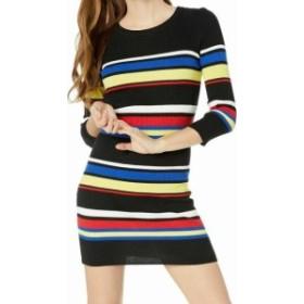Sanctuary サンクチュアリ ファッション ドレス Sanctuary NEW Black Blue Womens Size XL Striped Ribbed Sweater Dress
