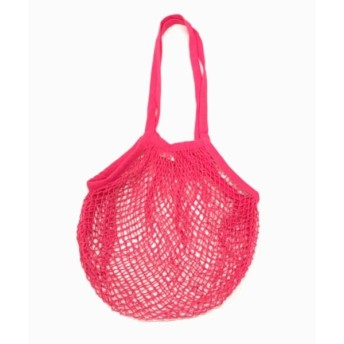 ストリングバッグ ピンク エコバッグ VIDA ヴィーダ ViDA エコ バッグ ショッピング メッシュ ポータブル トート エコ 洗える お買い物 肩掛け