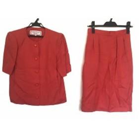 イヴサンローラン YvesSaintLaurent スカートスーツ サイズM レディース オレンジ 肩パッド【中古】20190927