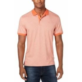 Calvin Klein カルバンクライン ファッション アウター Calvin Klein Mens Shirt Orange Size Medium M Stripe Print Polo Rugby
