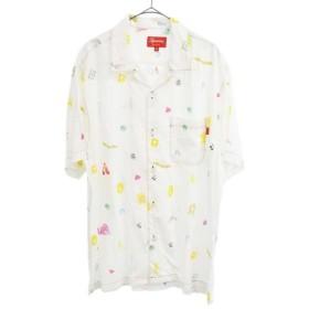 SUPREME(シュプリーム)19SS Deep Space Rayon S/S Shirt ディープ スペース レーヨン 半袖シャツ ホワイト