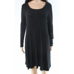 Fire ファイア ファッション ドレス Love Fire NEW Black Scoop Neck Womens Size Small S Swing Sweater Dress