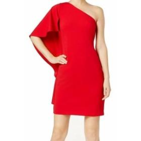 Calvin Klein カルバンクライン ファッション ドレス Calvin Klein NEW Red Womens Size 8 Draped One Shoulder Sheath Dress