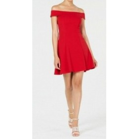 Red  ファッション ドレス Teeze me NEW Cherry Red Size 4 Juniors Off The Shoulder A-Line Dress