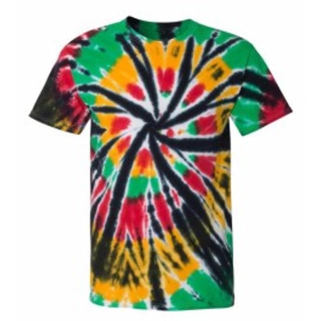 Rainbow レインボウ ファッション トップス Dyenomite Womens Rainbow Cut Spiral T-Shirt 200TD S-2XL