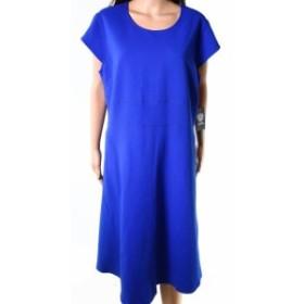 Vince ヴィンス ファッション ドレス Vince Camuto NEW Blue Womens Size 20W Plus Cap Sleeve Sheath Dress