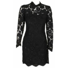 Betsey Johnson ベッツィージョンソン ファッション ドレス Betsey Johnson Black Long Sleeve Lace Collar Shift Dress 2