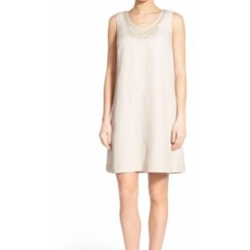 NIC+ZOE ニックゾー ファッション ドレス NIC+ZOE NEW Fawn Beige Womens Size Large L Embellished Shift Dress