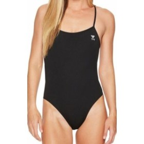 tyr ティア スポーツ用品 スイミング TYR NEW Solid Black Womens Size 38 One-Piece Logo Open-Back Swimwear