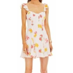 ASTR アストール ファッション ドレス ASTR NEW Pink Floral Print Womens Size Large L Brianne A-Line Dress
