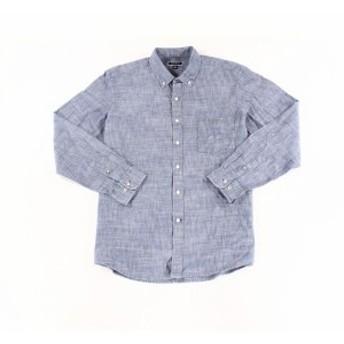 ファッション アウター Club Room NEW Chambray Blue Mens Size XL Long Sleeve Button Down Shirt