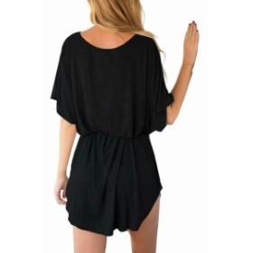 ファッション ドレス Lookbook Store NEW Black Womens Size 4 Batwing Sleeves T-Shirt Dress