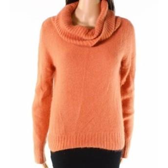 ファッション トップス Code x Mode Womens Orange Size Large L Long Sleeve Cowl Neck Sweater