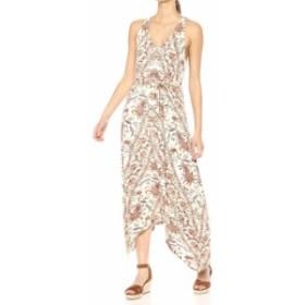 lucky ラッキー ファッション ドレス Lucky Brand Womens White Size Large L Floral Print V-Neck Maxi Dress