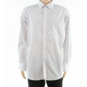 ファッション ドレス Club Room Mens Dress Shirt Blue Size 16 1/2 Stripe Print Regular Fit