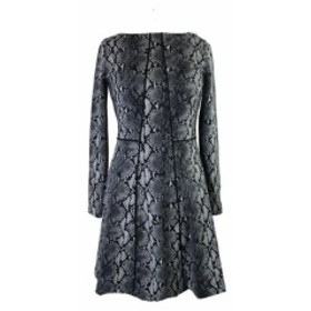 Michael Kors マイケルコルス ファッション ドレス Michael Michael Kors Grey Snake Print A-Line Dress 6