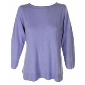 bliss ブリス ファッション トップス Karen Scott Purple Bliss Long-Sleeve Rolled Crew Neck Sweater L