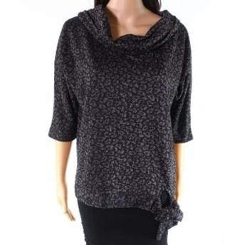 ファッション トップス August Silk NEW Black Womens Size Large L Glitter Cowl Neck Sweater