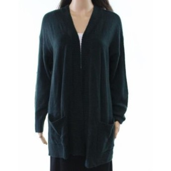 time タイム ファッション トップス Its our time NEW Green Womens Size Large L Cardigan Open-Front Sweater