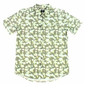 Hurley ハーレー ファッション アウター Hurley Mens Shirt Green Size Large L Pocket Button Down Short-Sleeve