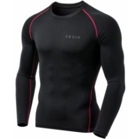 ファッション  TSLA Tesla YUD34 Thermal Winter Gear Long Sleeve Compression Top - Black/Red