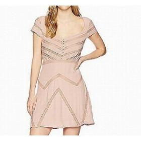 Free People フリーピープル ファッション ドレス Free People NEW Pink Womens Size 8 Lace Shadow Stripe Shift Dress