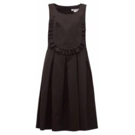 コム デ ギャルソン Comme des Garcons Comme des Garcons レディース ワンピース ワンピース・ドレス ruffled-bib twill dress Black