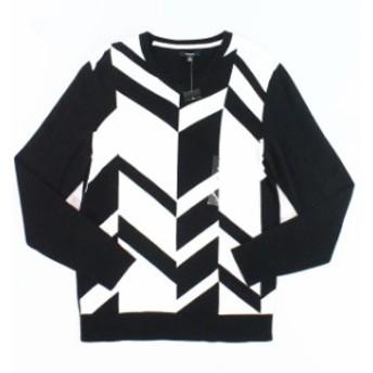 Alfani  ファッション トップス Alfani NEW Black White Mens Size XL V-Neck Broken Chevron Sweater