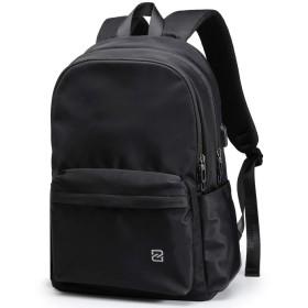ZZINNA リュックサック リュック メンズ バックパック 大容量 高校生 通学 通勤 USBポート付き 15.6インチpc 多機能 人気 旅行 ブラック