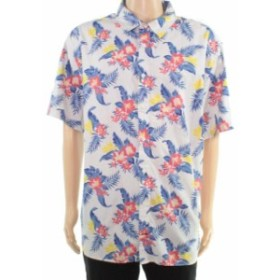 nautica ノーティカ ファッション アウター Nautica Mens Shirt Blue Size 3XL Lily Print Classic Fit Button Up
