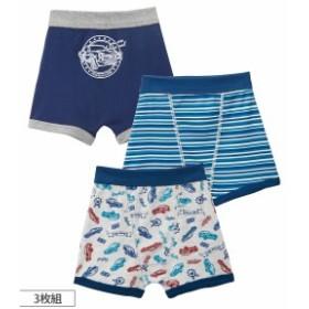 パンツ ボクサー 男の子 キッズ ブリーフ 3枚組 子供服 ジュニア服 肌着 ボトム 3枚組 100 ニッセン