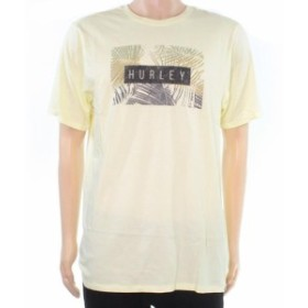 Hurley ハーレー ファッション トップス Hurley Mens T-Shirt Yellow Size Large L Leaf Tropical Graphic Tee