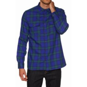 Hurley ハーレー ファッション アウター Hurley Mens Dri-FIT Syd Plaid Woven Flannel Button Up Shirt - Deep Royal Blue