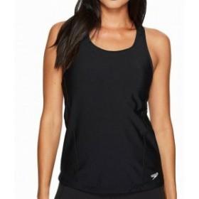 speedo スピード スポーツ用品 スイミング Speedo NEW Deep Black Womens Size 6 Racer-Back Tankini Top Swimwear