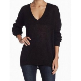 Free People フリーピープル ファッション トップス Free People NEW Black Womens Size XS V-Neck Wool Knit Sweater