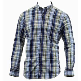 nautica ノーティカ ファッション アウター Nautica Mens Long Sleeve Heirloom Navy Cotton Button Down Shirt
