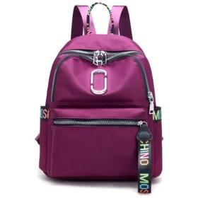 バックパック女性の肩、ナイロンカジュアルバックパック、大学風学生バッグ、アウトドア旅行バックパック、製品サイズ:長さ24.0センチメートル