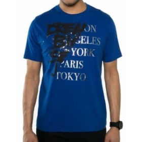 Split スプリット ファッション トップス Sean John Mens T-Shirt Blue Size XL Stretch Split Graphic Print Crewneck 073
