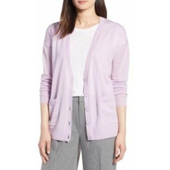 Pocket  ファッション トップス Halogen Womens Sweater Purple Size XS Button Dual Pocket Cardigan Wool
