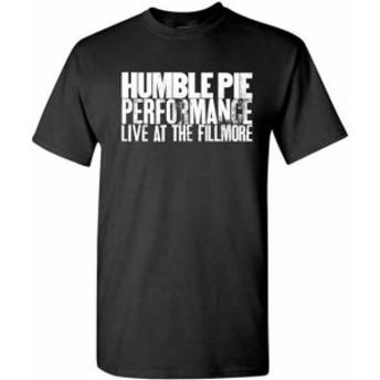 ファッション トップス Humble Pie-Live At The Fillmore-Large Black T-shirt