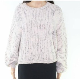 Marled  ファッション トップス RD Style Womens White Size Large L Marled Knit Crewneck Sweater