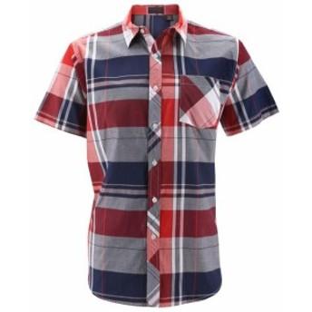 Plaid  ファッション アウター Mens Plaid Checkered Button Down Casual Short Sleeve Regular Fit Dress Shirt