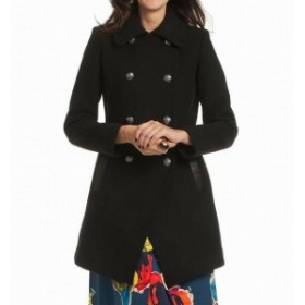 Trina Turk トリーナ ターク ファッション 衣類 Trina Turk NEW Deep Black Womens Size 2 Double Breasted Wool Coat