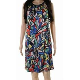 Nally & Millie ナリーアンドミリー ファッション ドレス Nally & Millie NEW Red Womens Size XS Layered Printed Shift Dress