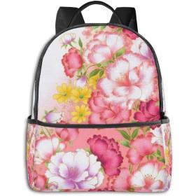 花柄 リュック バックパックリュックサック 大容量 PCバッグ レジャーバッグ 旅行カバン 登山リュック ビジネスリュック ユニセックス おしゃれ 人気